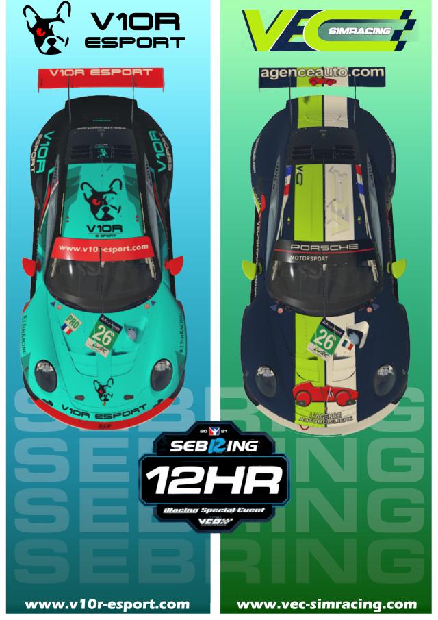 Live 12h de Sebring 2021 V10R-esport