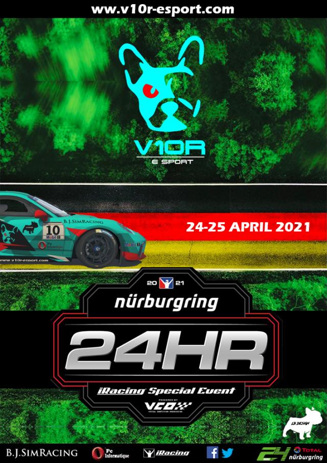 Live 24h du Nurburgring 2021 V10R-esport
